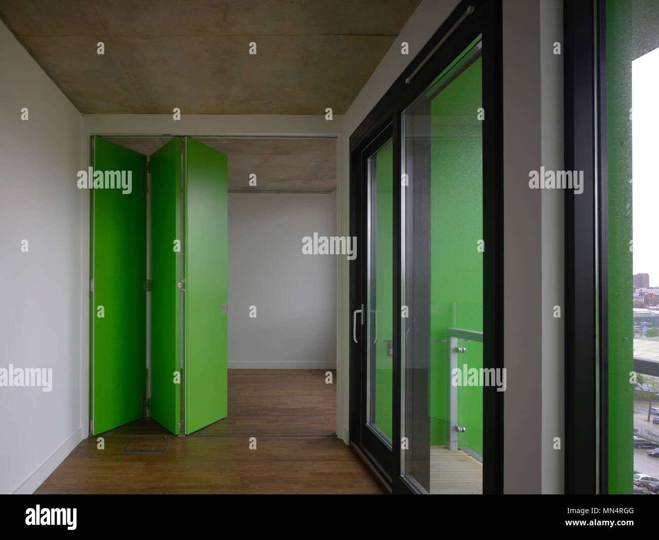 Studio flat with concertina doors in green. Chips Manchester United Kingdom. Architect & Concertina Door Stock Photos \u0026 Concertina Door Stock Images - Alamy