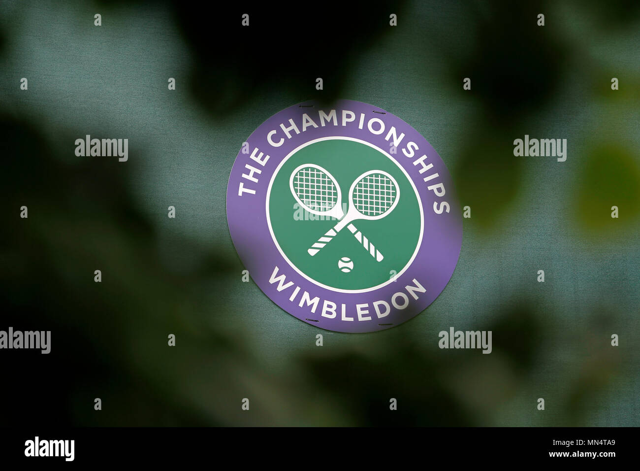 London, 3 July, 2017 - Wimbledon:  Sign at the All England Club on the opening day of Wimbledon - Stock Image