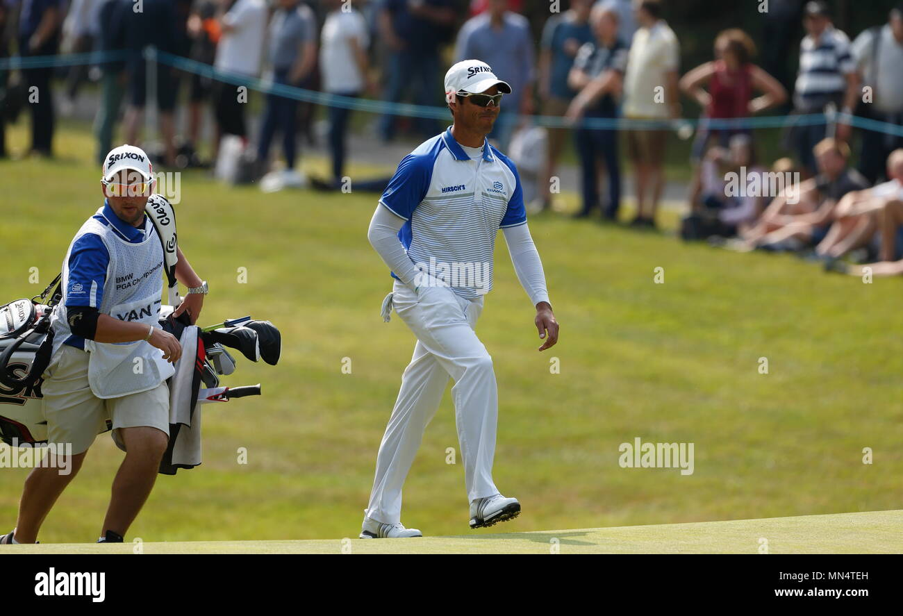 VIRGINIA WATER, ENGLAND - MAY 28: on the xx hole during day three of the BMW PGA Championship at Wentworth on May 28, 2016 in Virginia Water, England. - Stock Image