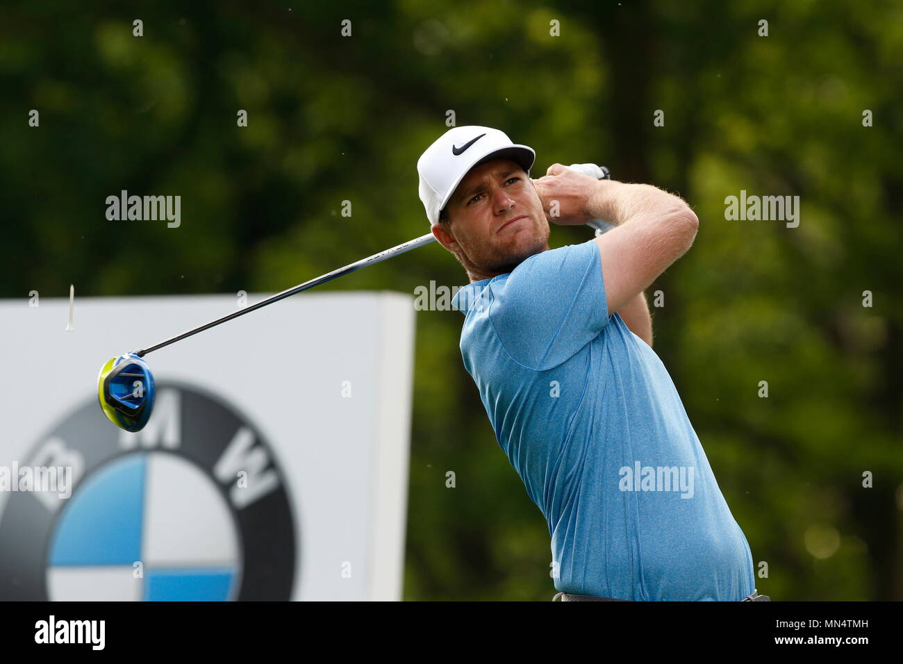 VIRGINIA WATER, ENGLAND - MAY 27: on the xx hole during day two of the BMW PGA Championship at Wentworth on May 27, 2016 in Virginia Water, England. - Stock Image
