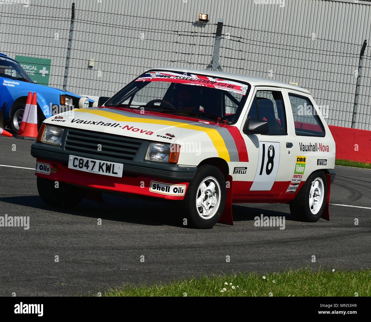 Vauxhall Nova, Rallying with Group B, Rally demo, Donington Historic ...