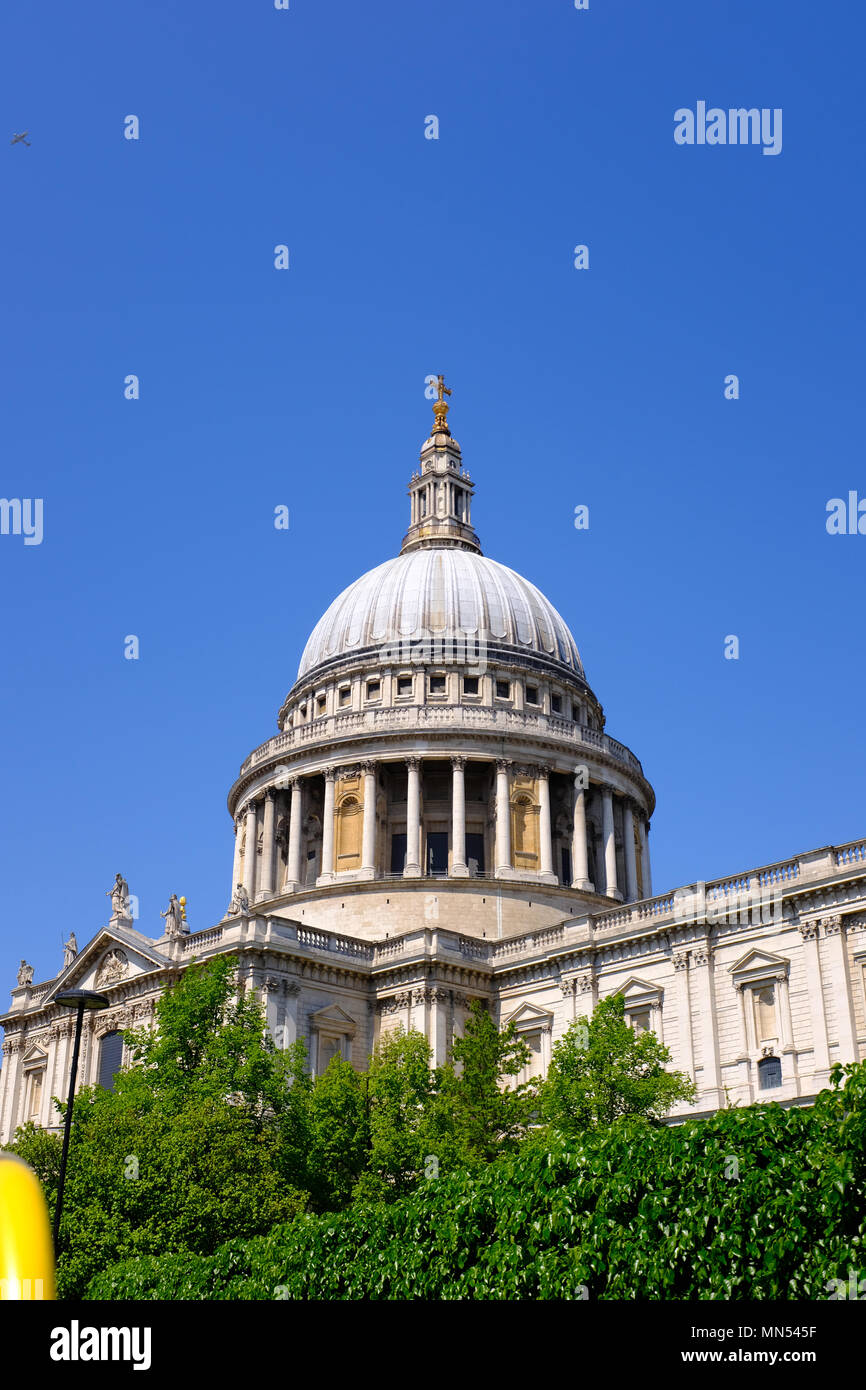 The dome of St Pauls Cathedral - London Stock Photo