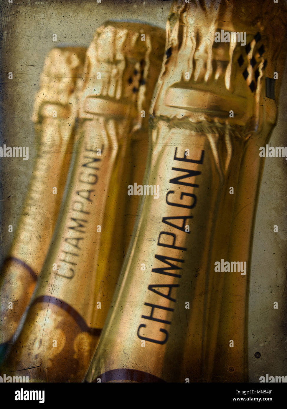 Bottles of champagne Stock Photo
