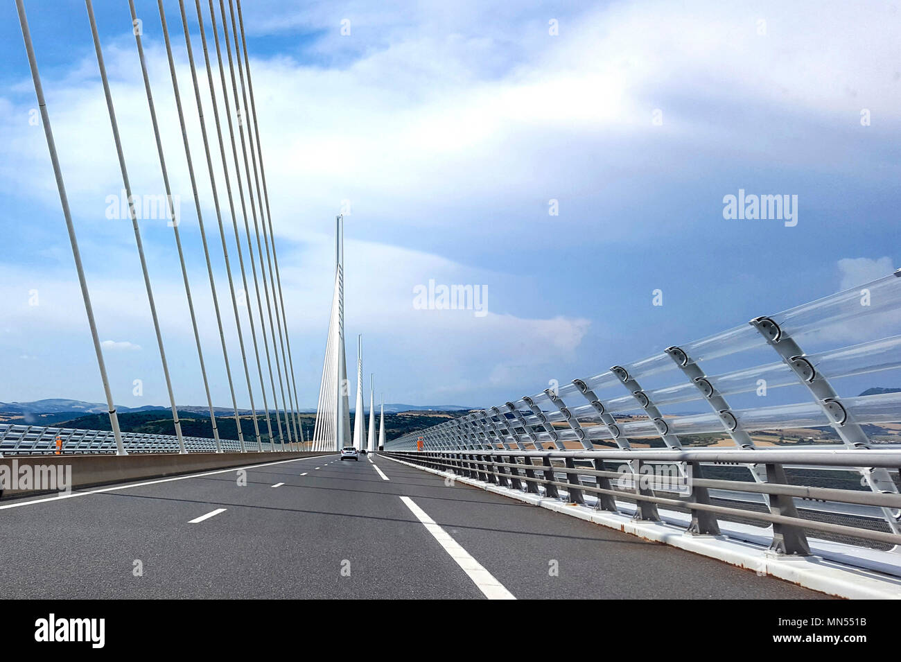 Millau Viaduct A75 Motorway Built By Michel Virlogeux And Norman Foster Aveyron France Europe