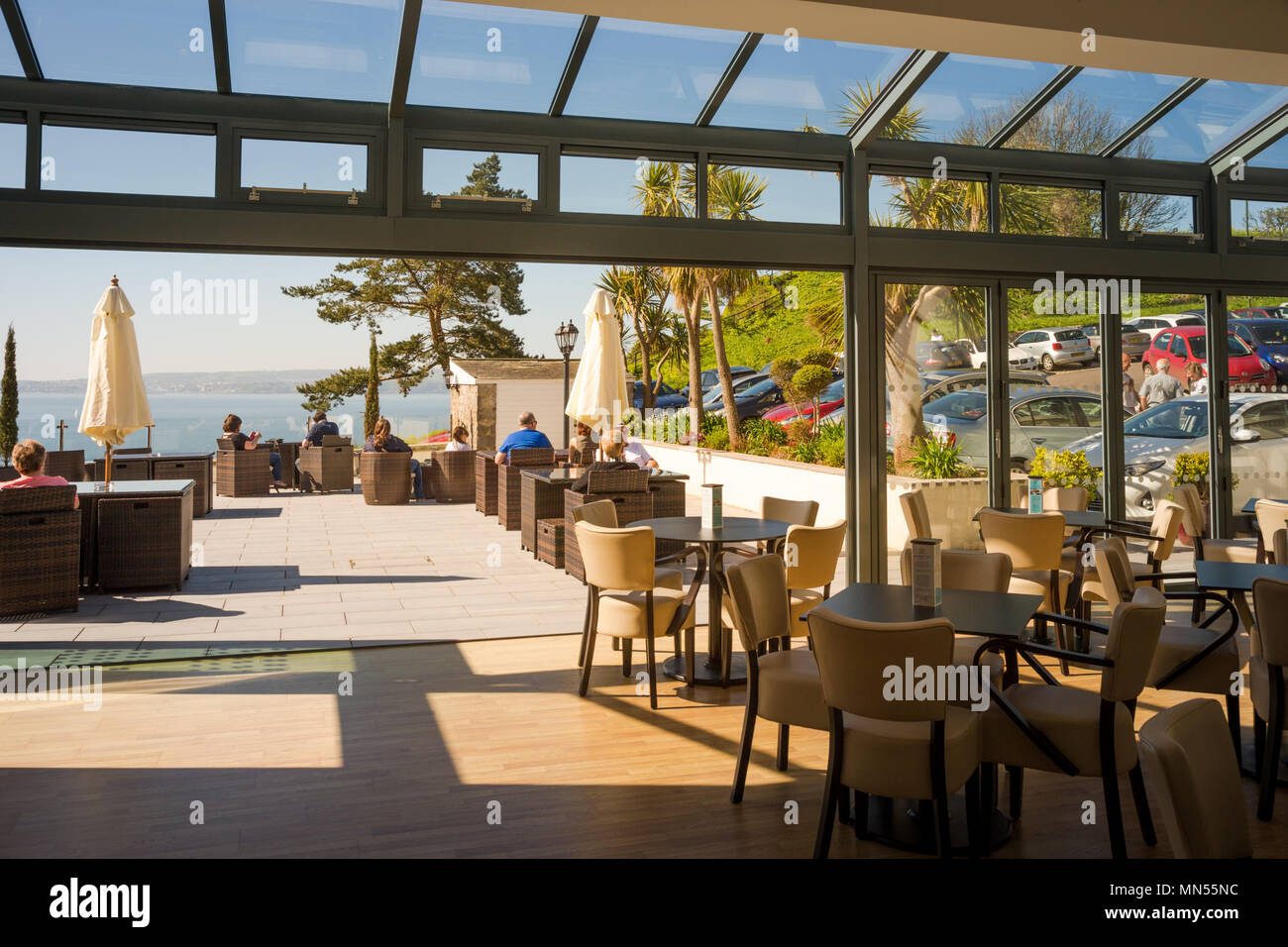 Headland hotel, Torquay, Devon UK Stock Photo: 185125736 ...