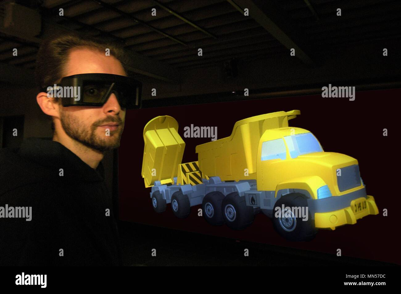 University of Milan - Bovisa (Italy), department of Design, laboratory of Virtual Models, three-dimensional projection of a truck - Stock Image