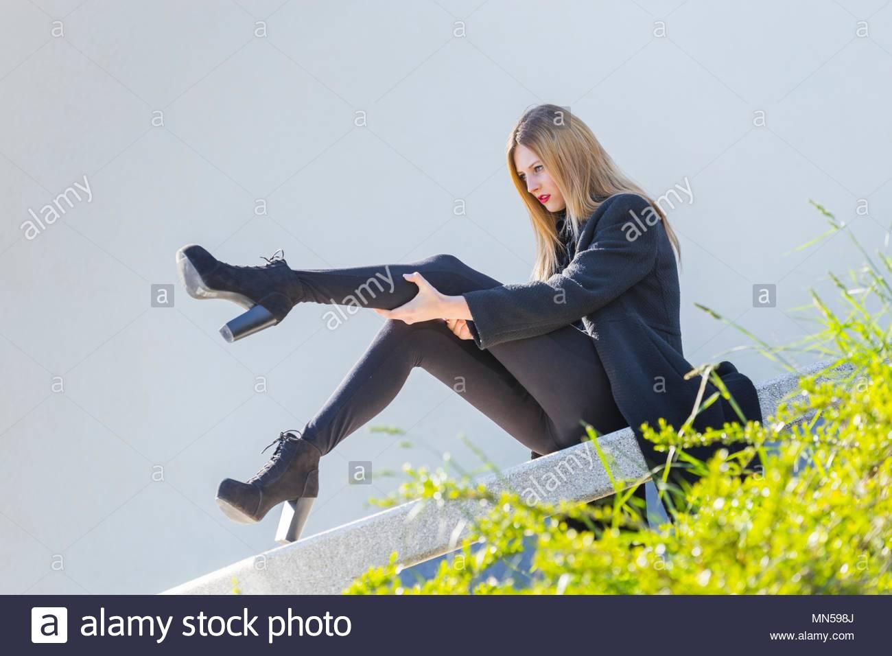 Teens wearing high heels