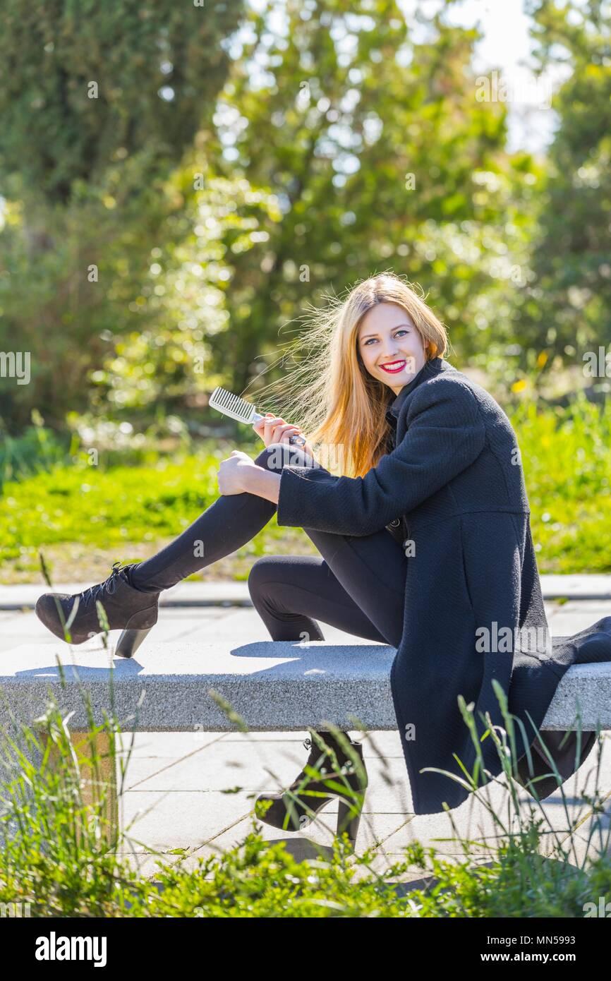 One teen wearing high heels Stock Photo