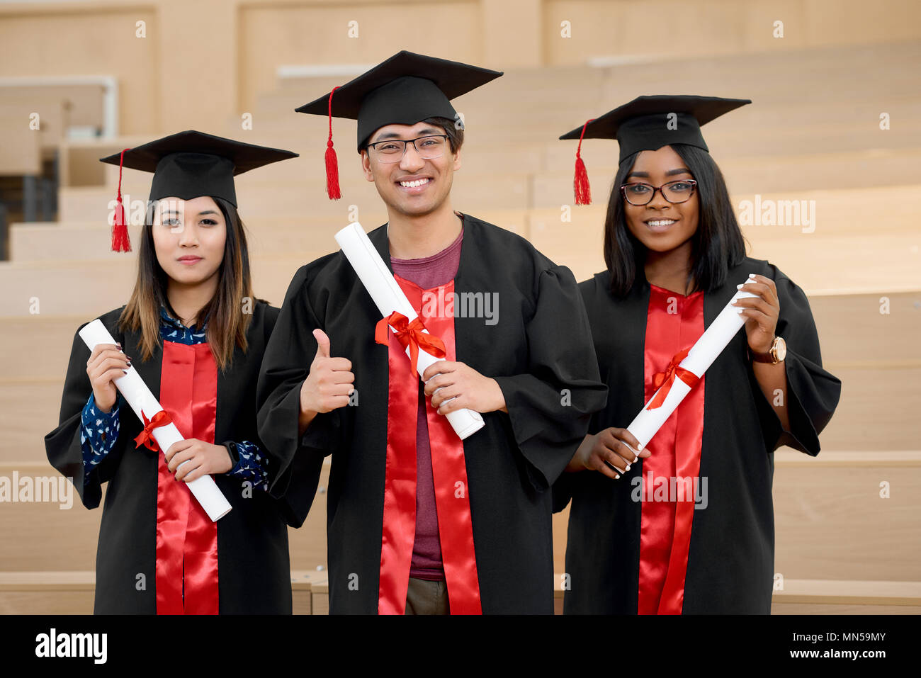 Wearing Cap And Gowns Stock Photos & Wearing Cap And Gowns Stock ...