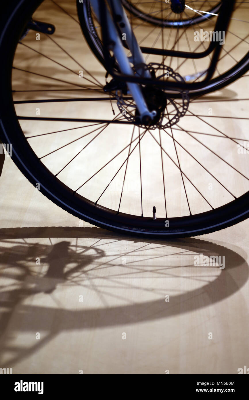 close shots of gear bycicle - Stock Image
