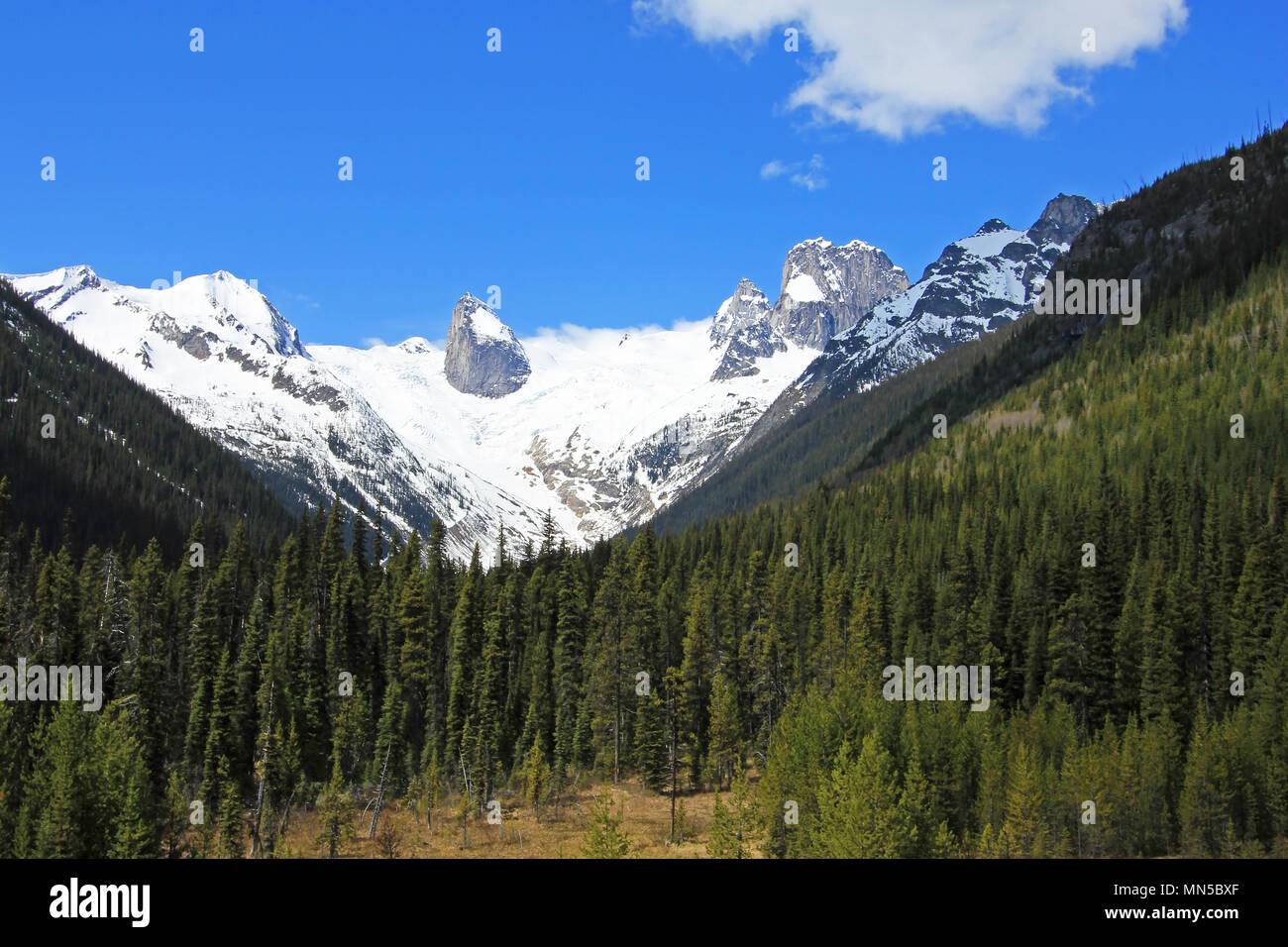 Bugaboo Spires in Bugaboo Provincial Park, British Columbia - Stock Image
