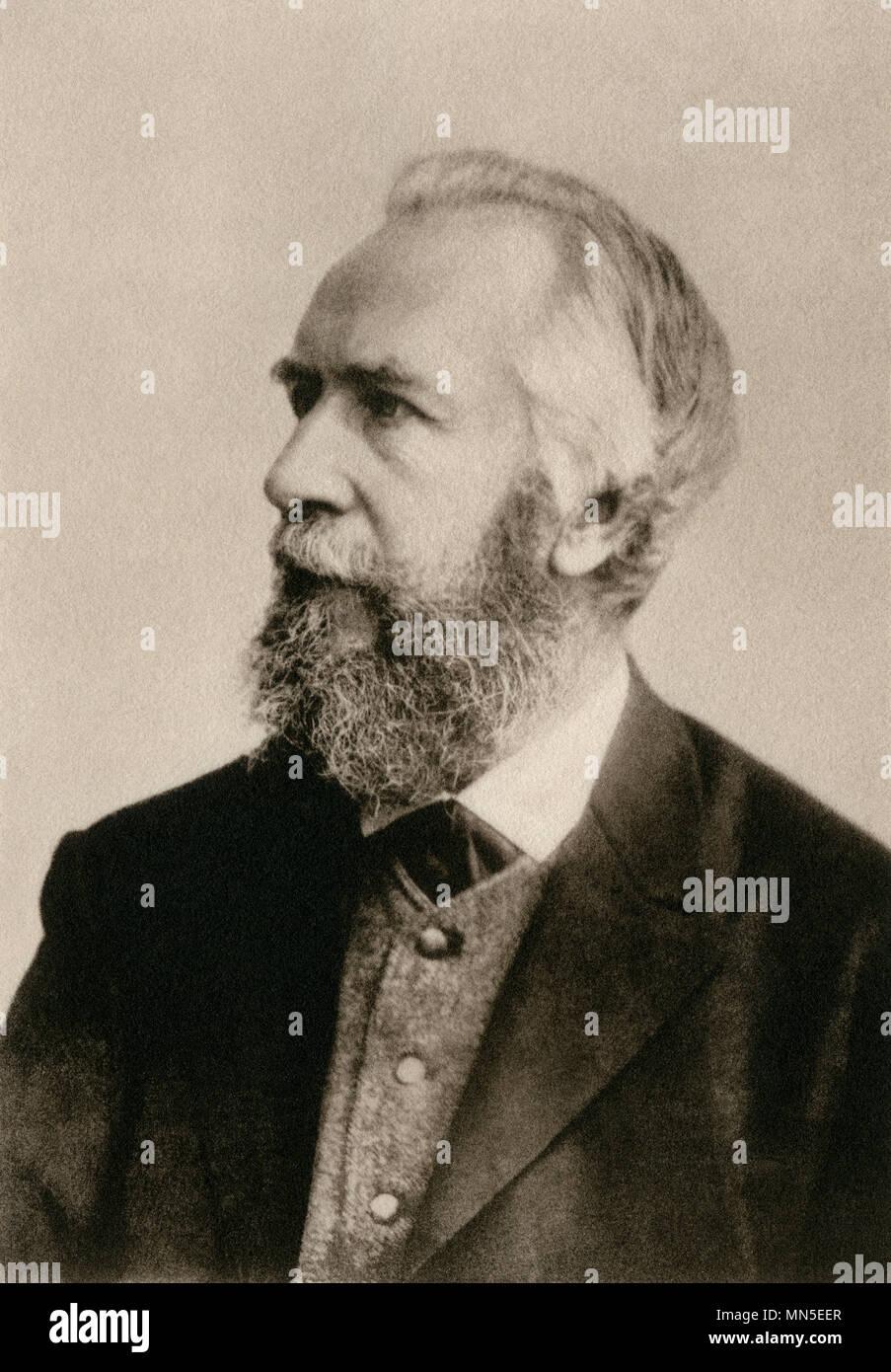 Naturalist Ernst Heinrich Haeckel. Photogravure - Stock Image