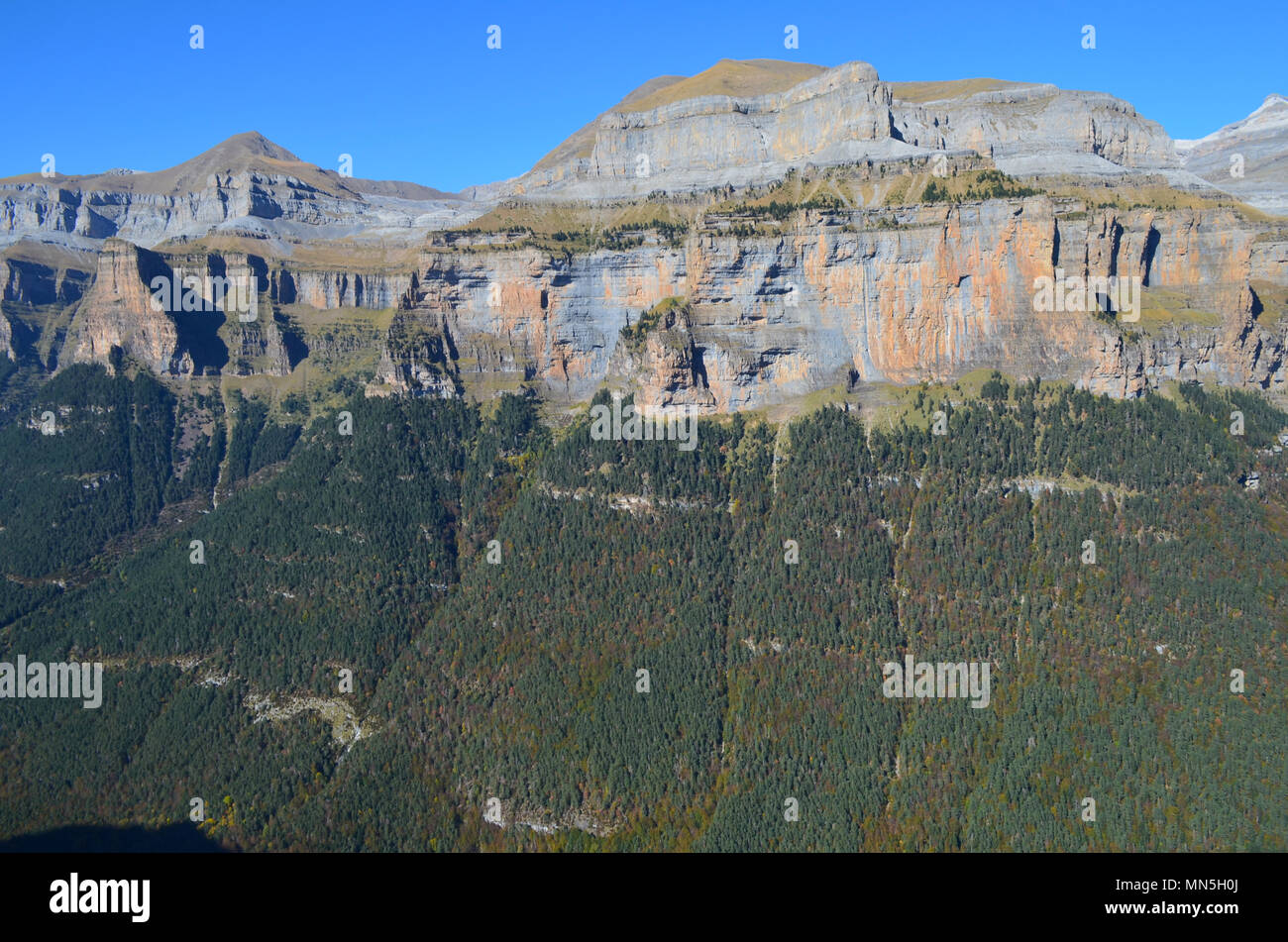 The Ordesa valley, a national park in the Pyrenees range Stock Photo