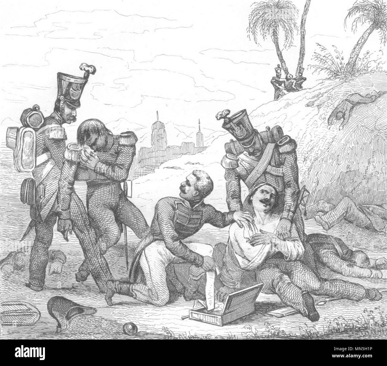 FRANCE. Le Chirurgien Militaire 1835 old antique vintage print picture - Stock Image