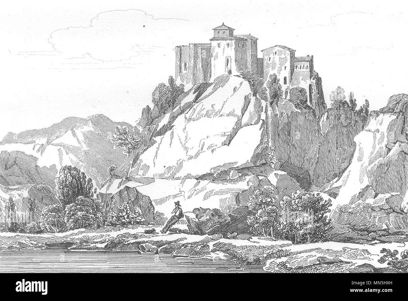 TARN ET GARONNE. Chateau De Bruniquel 1835 Old Antique Vintage Print  Picture