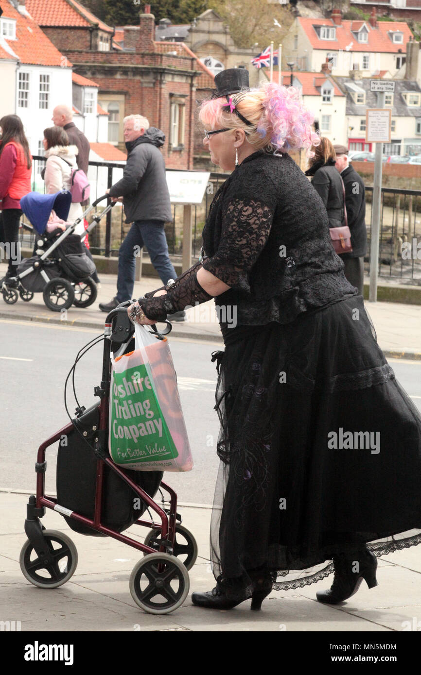 Old age pensioner Goth - Stock Image