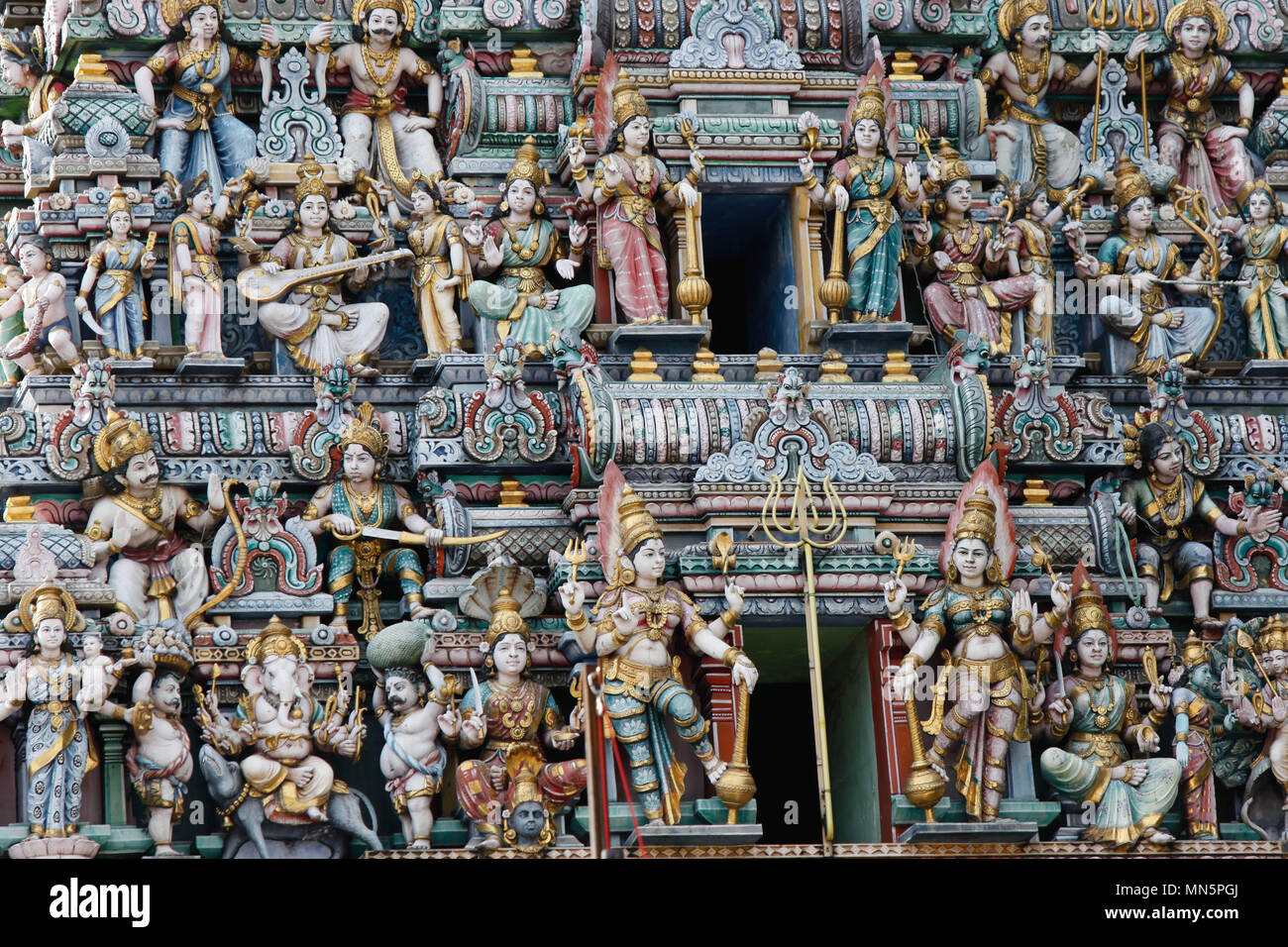 Hindu temple in Singapore - Stock Image