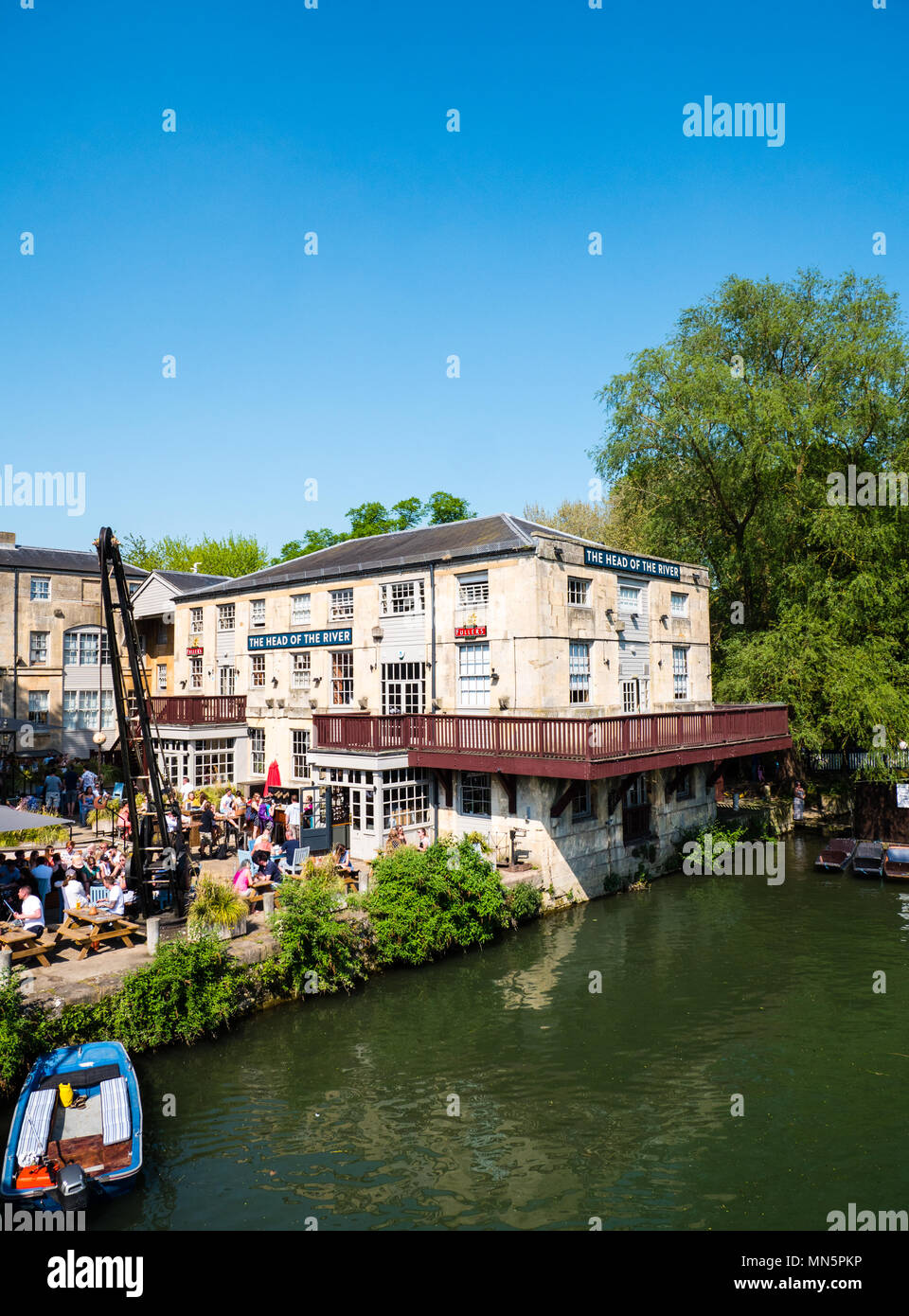 Head of The River Hotel, Pub, Restaurant, River Thames, Oxford, Oxfordshire, England, UK, GB, UK. - Stock Image