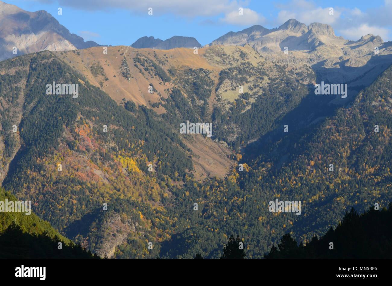 The Posets-Maladeta Natural Park in the Posets massif, Aragón, Spanish Pyrenees Stock Photo