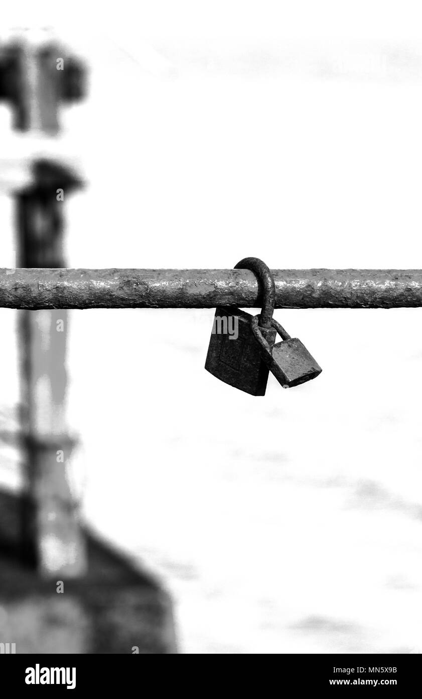Locks keep you safe - Stock Image