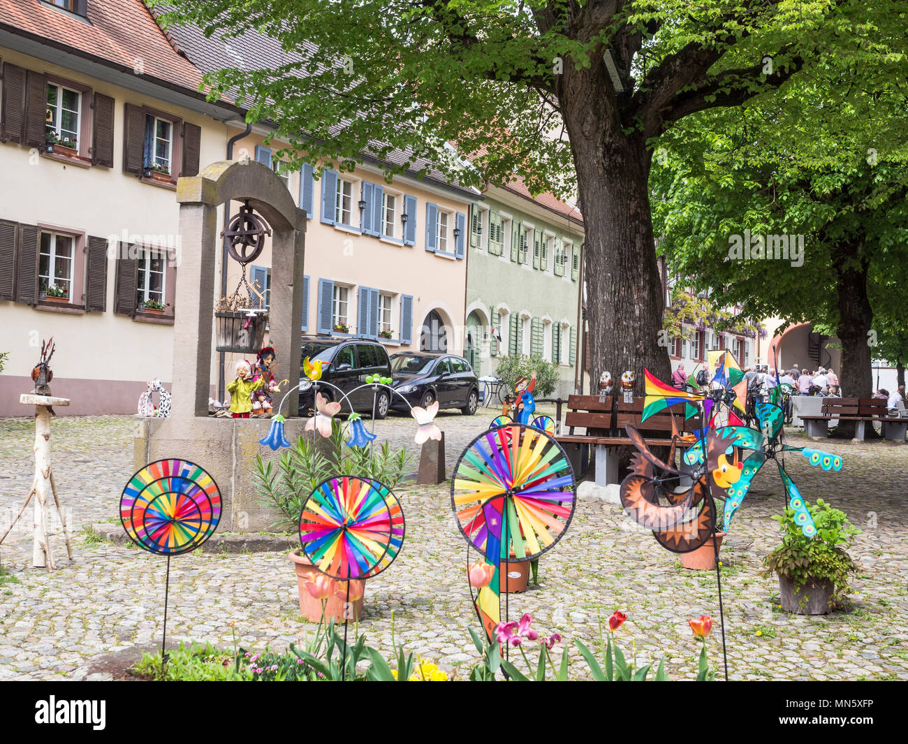 Village Burkheim near Freiburg, Breisgau, Baden-Würtemberg, Germany Stock Photo