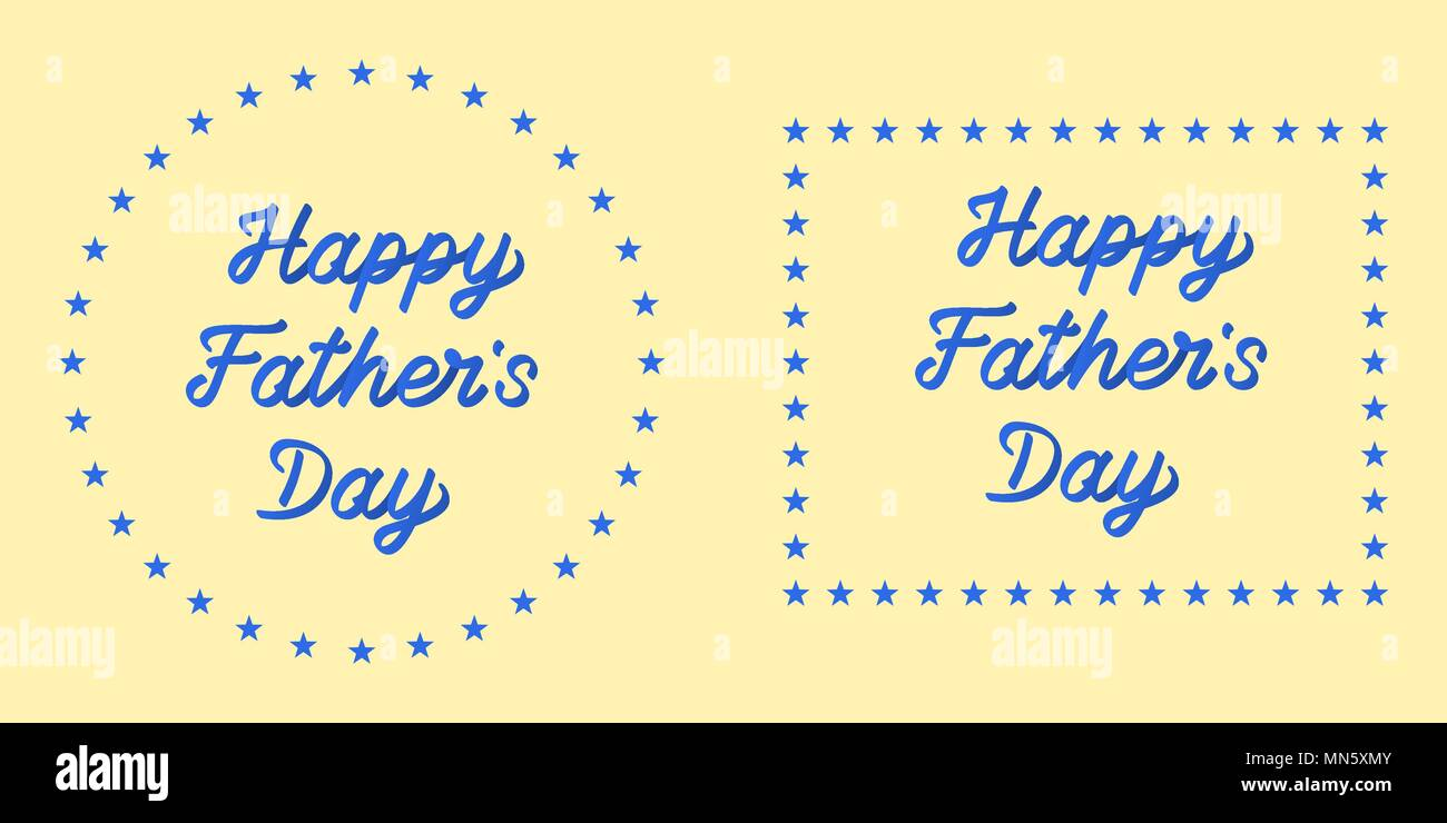Lettering of happy father day vector illustration with holiday lettering of happy father day vector illustration with holiday greeting of father day blue gradient on the light yellow background every letter is m4hsunfo