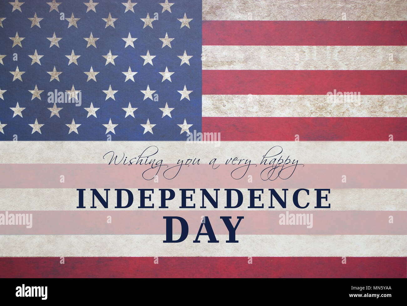 d3af3e175d1b44 Independence day text card. American flag background with stars and  stripes.The Fourth of