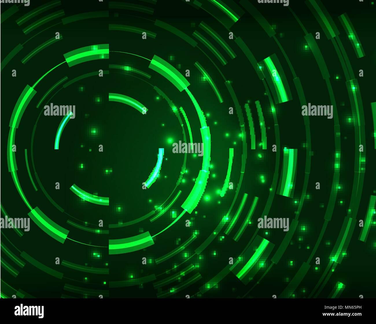Neon Circles Abstract Background Neon Green Circles Vector