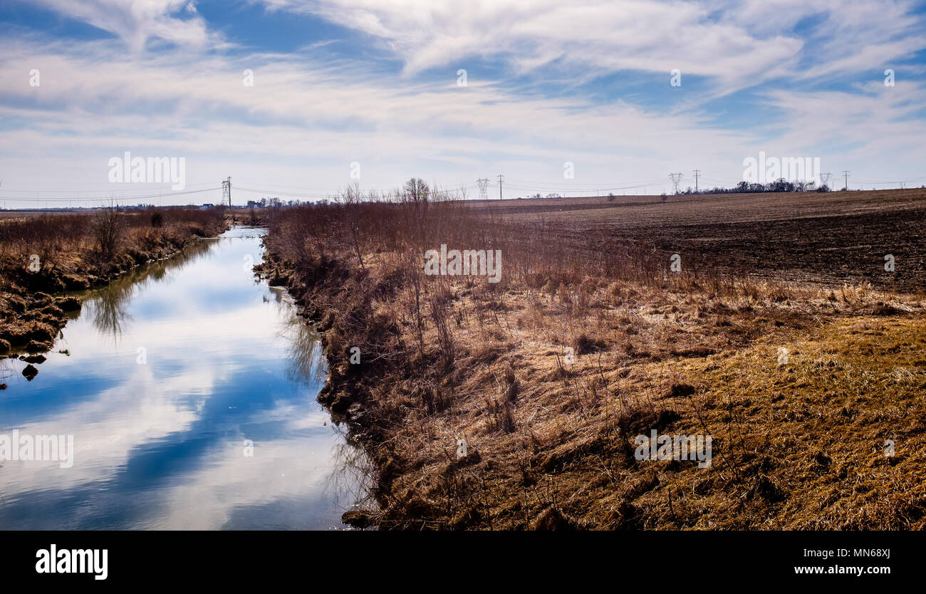 a warm February day in the Midwest - Stock Image