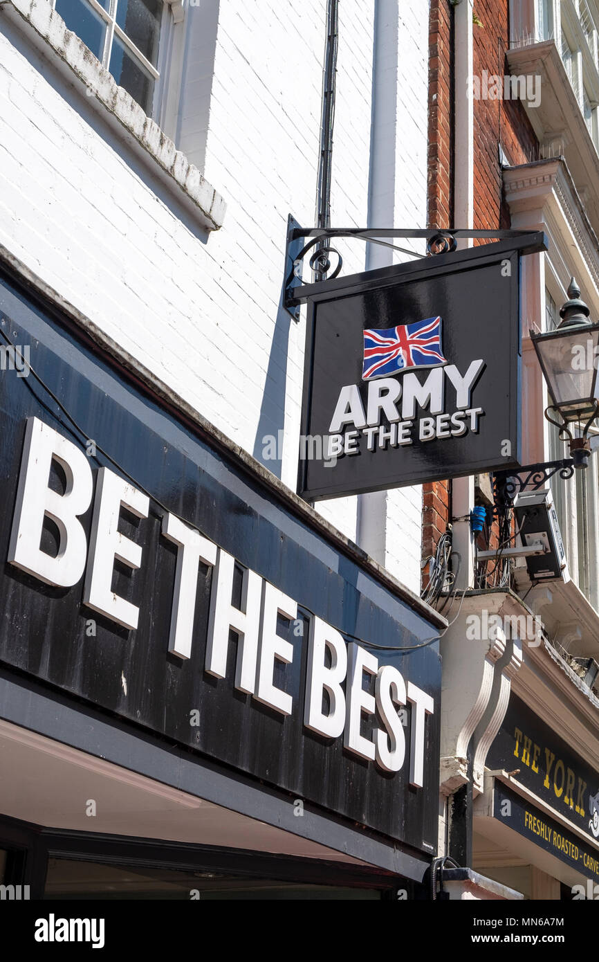 British Army recruitment centre signage - Stock Image