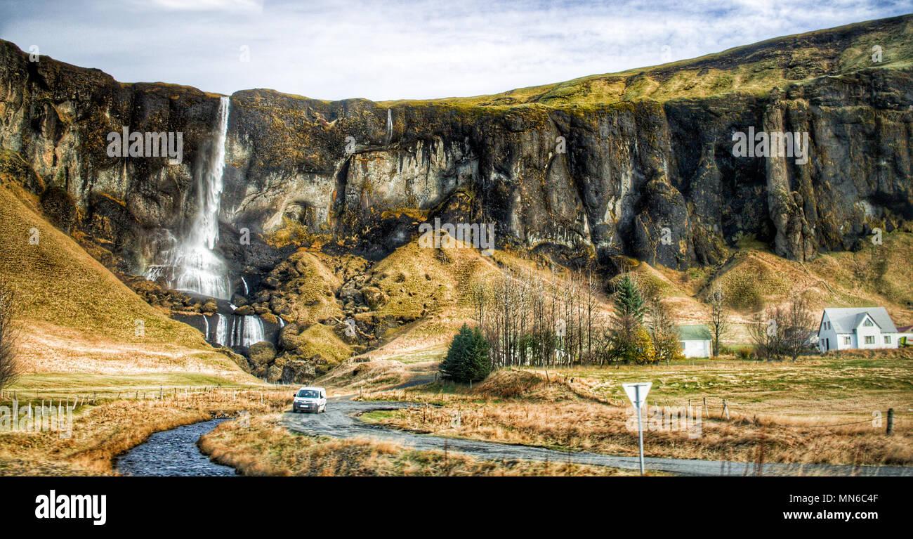 Icelandic Village - Stock Image