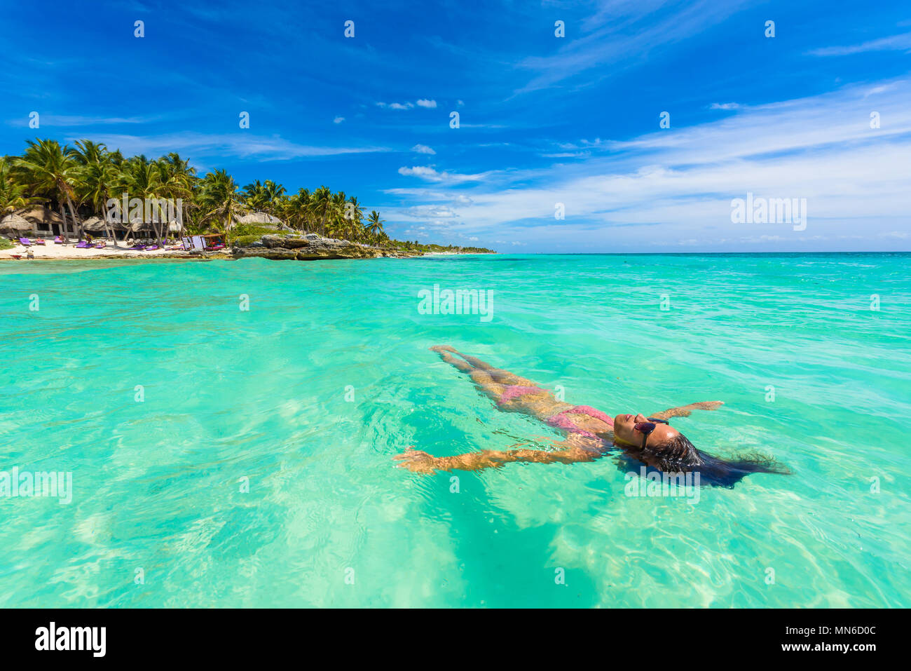 Caribbean Relaxation: Girl In Cancun Stock Photos & Girl In Cancun Stock Images