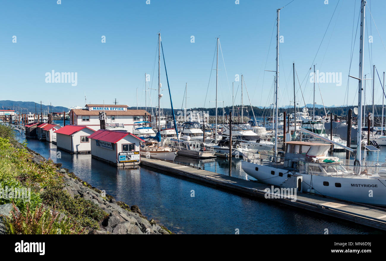 Discovery Harbour Marina, Campbell River, BC - Stock Image
