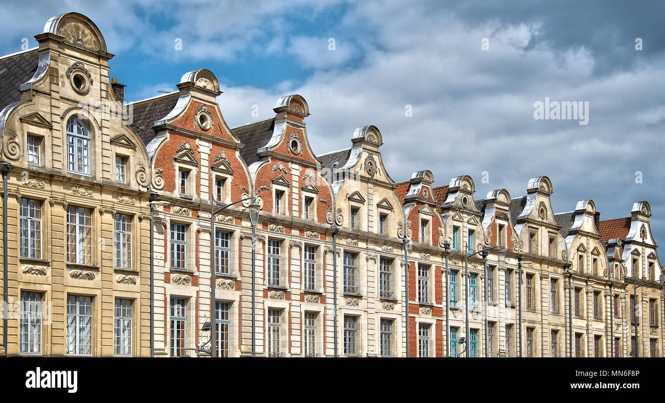 Place des Heros, Arras, North of France - Stock Image