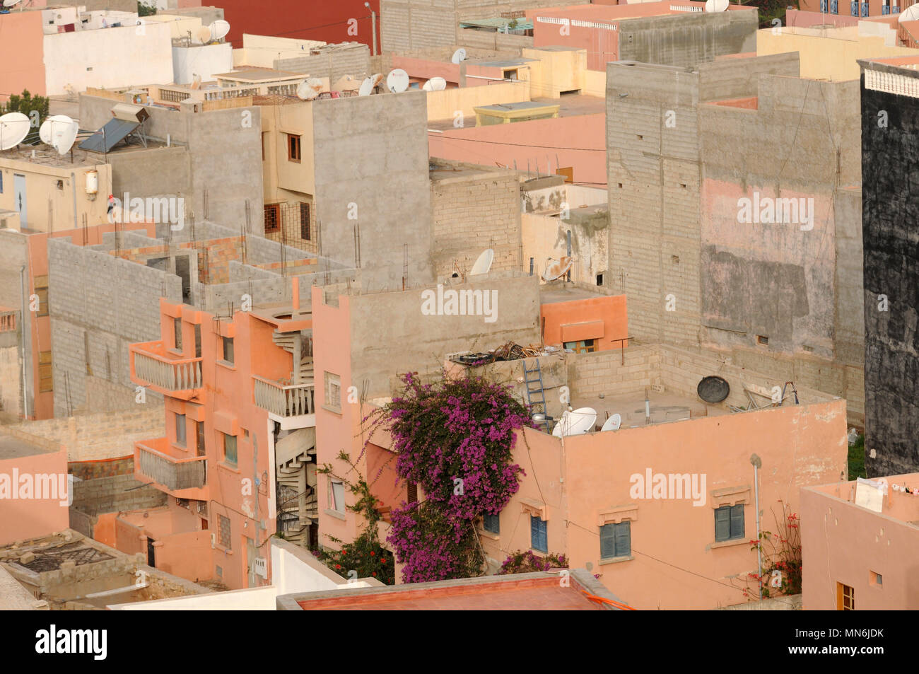 Awe Inspiring Moroccan Homes Houses In Tagazout Morocco Stock Photo Interior Design Ideas Gentotryabchikinfo
