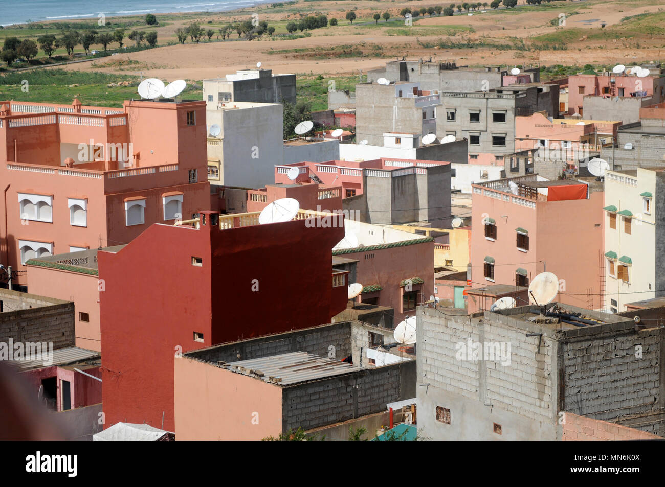 Outstanding Moroccan Homes Houses In Tagazout Morocco Stock Photo Interior Design Ideas Gentotryabchikinfo