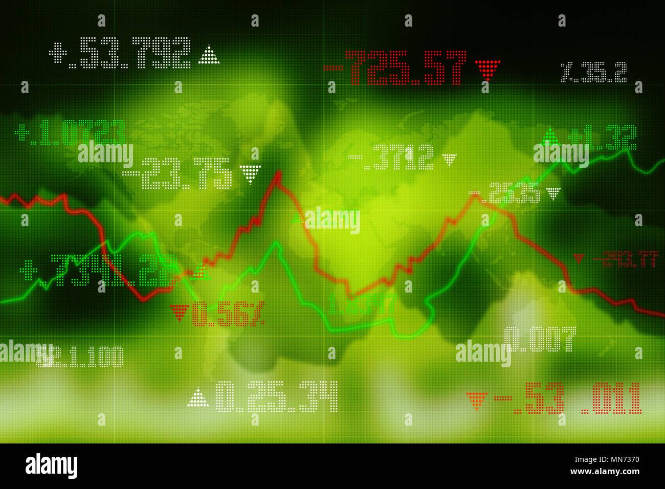 2d rendering Stock market online business concept. business Graph - Stock Image