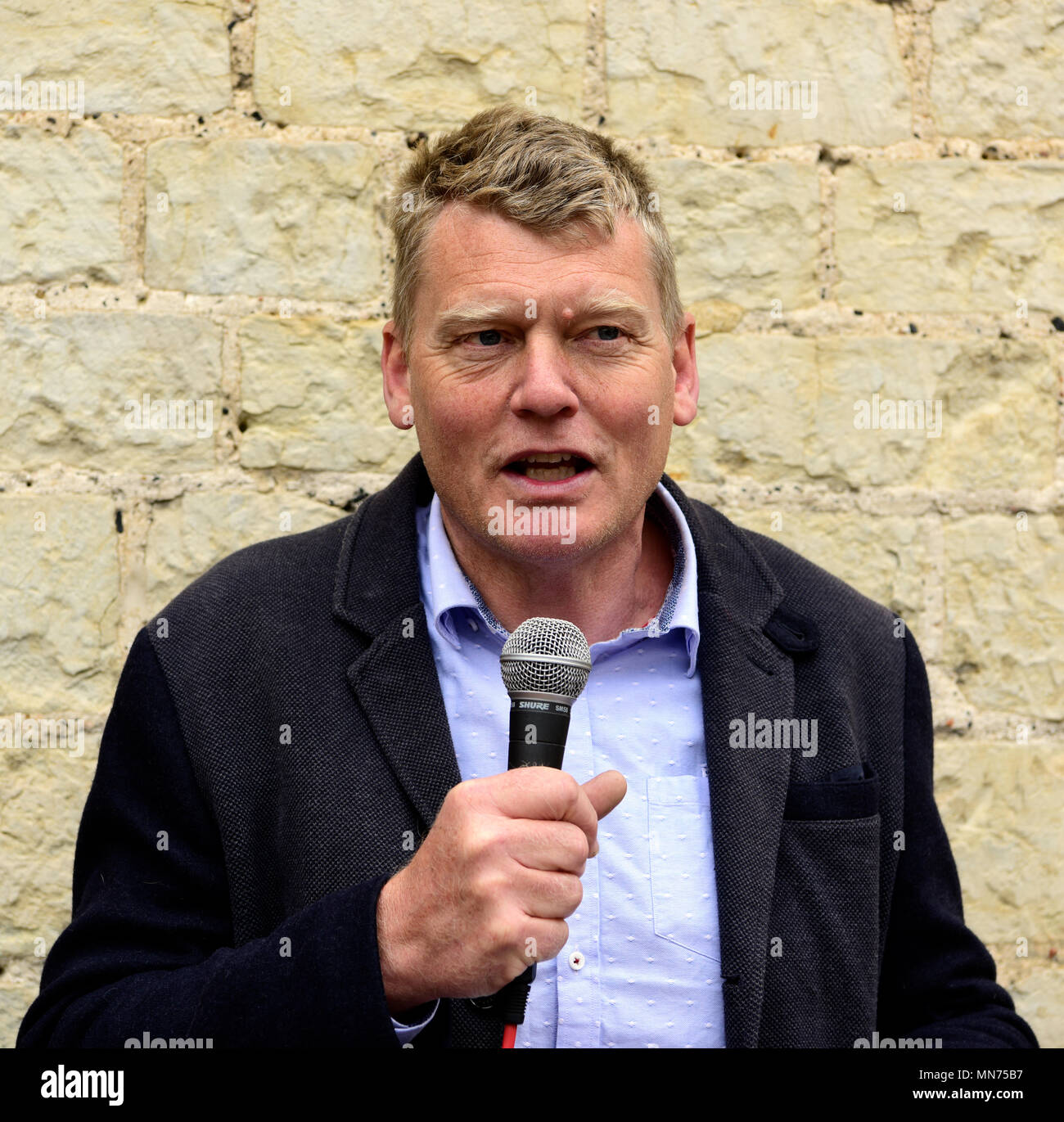 BBC television & radio reporter & presenter Tom Heap (born 6 January 1966) best known for the BBCs Countryfile, speaking at the re-opening of... - Stock Image