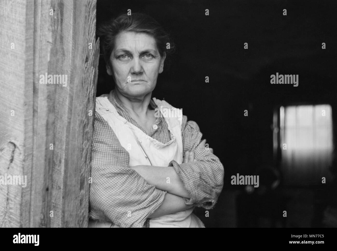 Rehabilitation Client's Wife, Jackson County, Ohio, USA, Theodore Jung for U.S. Resettlement Administration, April 1936 - Stock Image