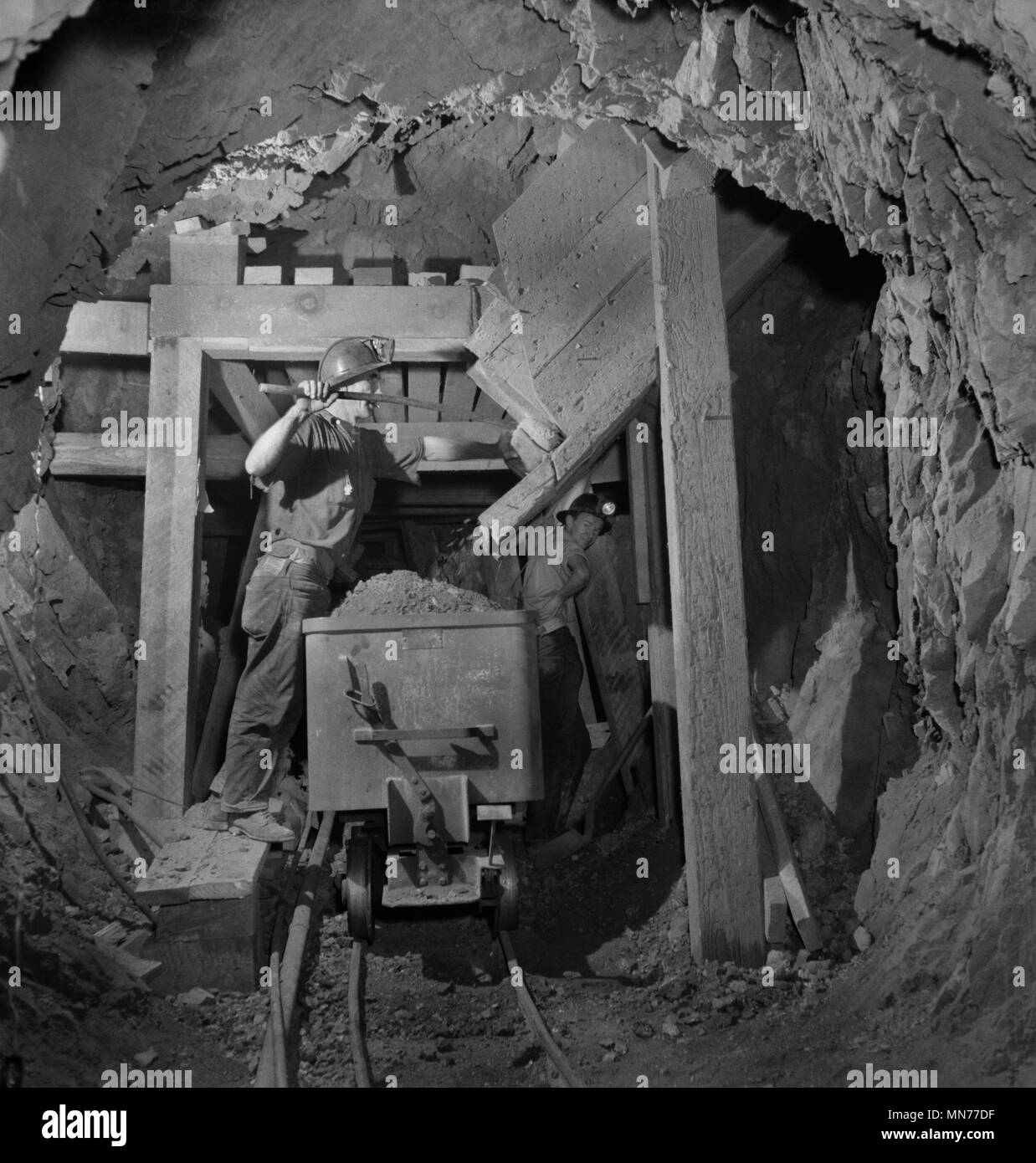 Gold And Silver Mining In Palestine Mail: Mining Company Black And White Stock Photos & Images