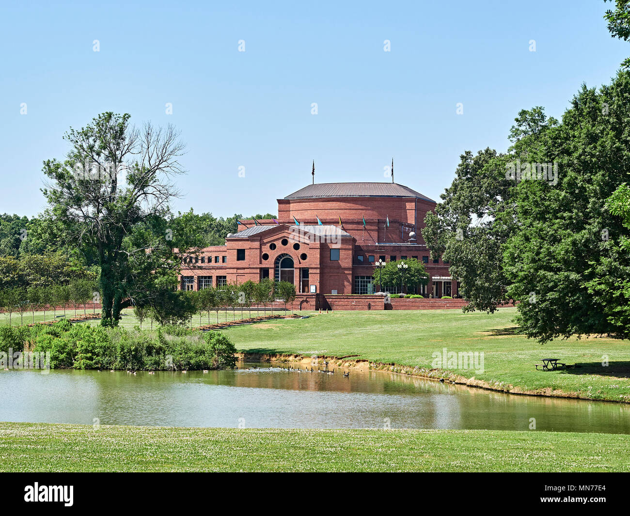 Alabama Shakespeare Festival exterior front of building in Blount Cultural Park, Montgomery, Alabama USA. - Stock Image