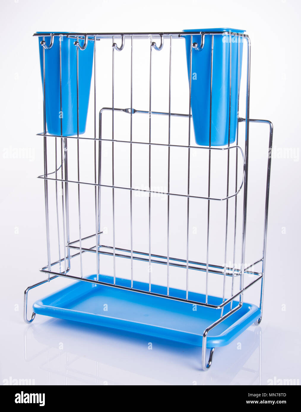 Kitchen utensils holder or Cutlery holder on background Stock Photo