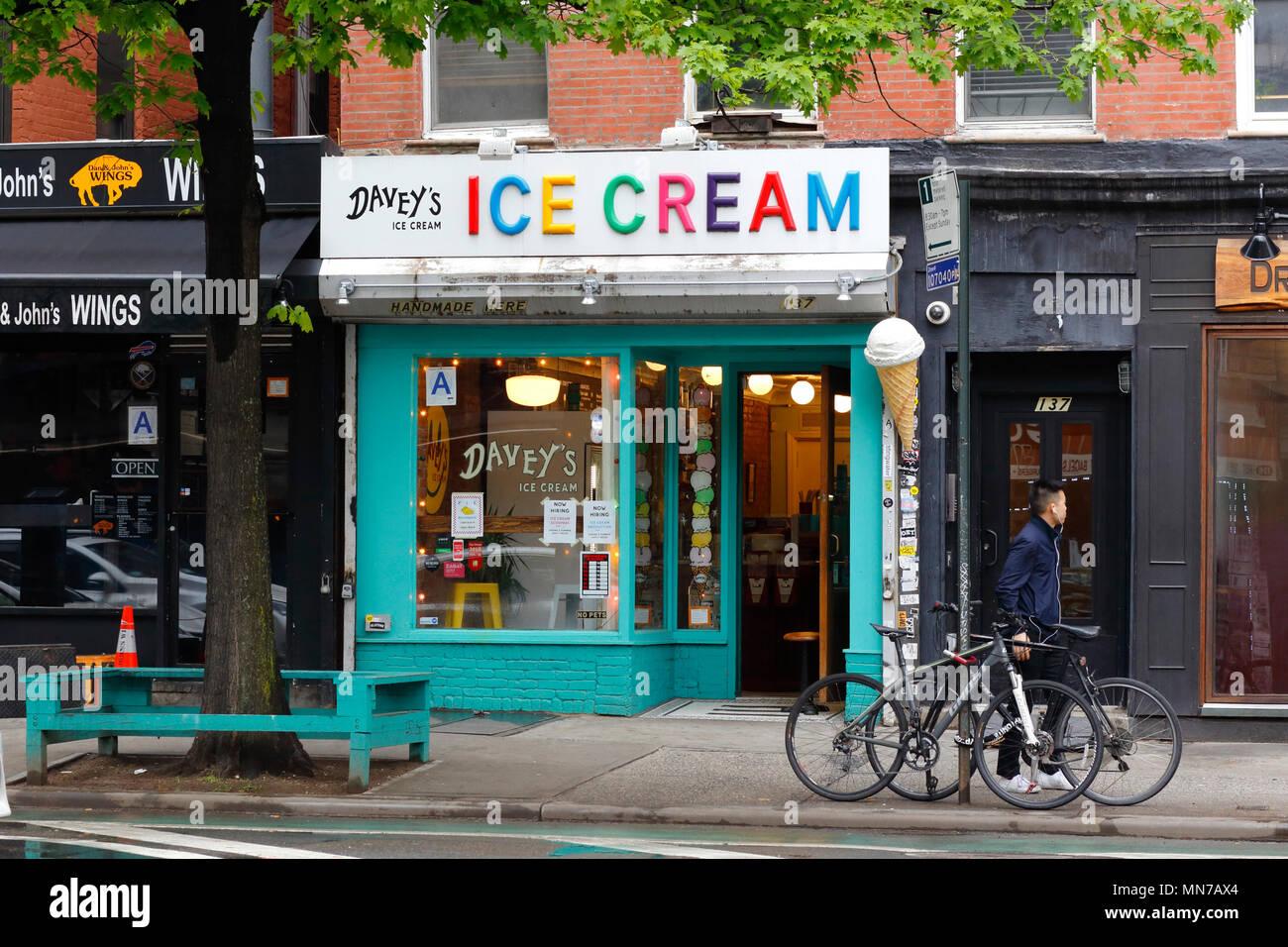 Davey's Ice Cream, 137 1st Avenue, New York, NY - Stock Image