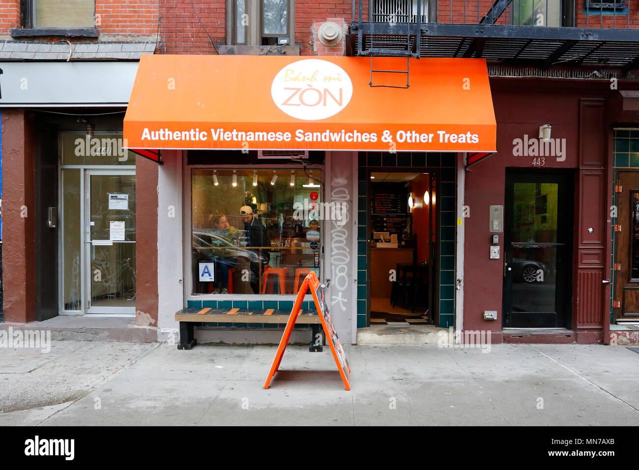 Banh Mi Zon, 443 E 6th St, New York, NY - Stock Image