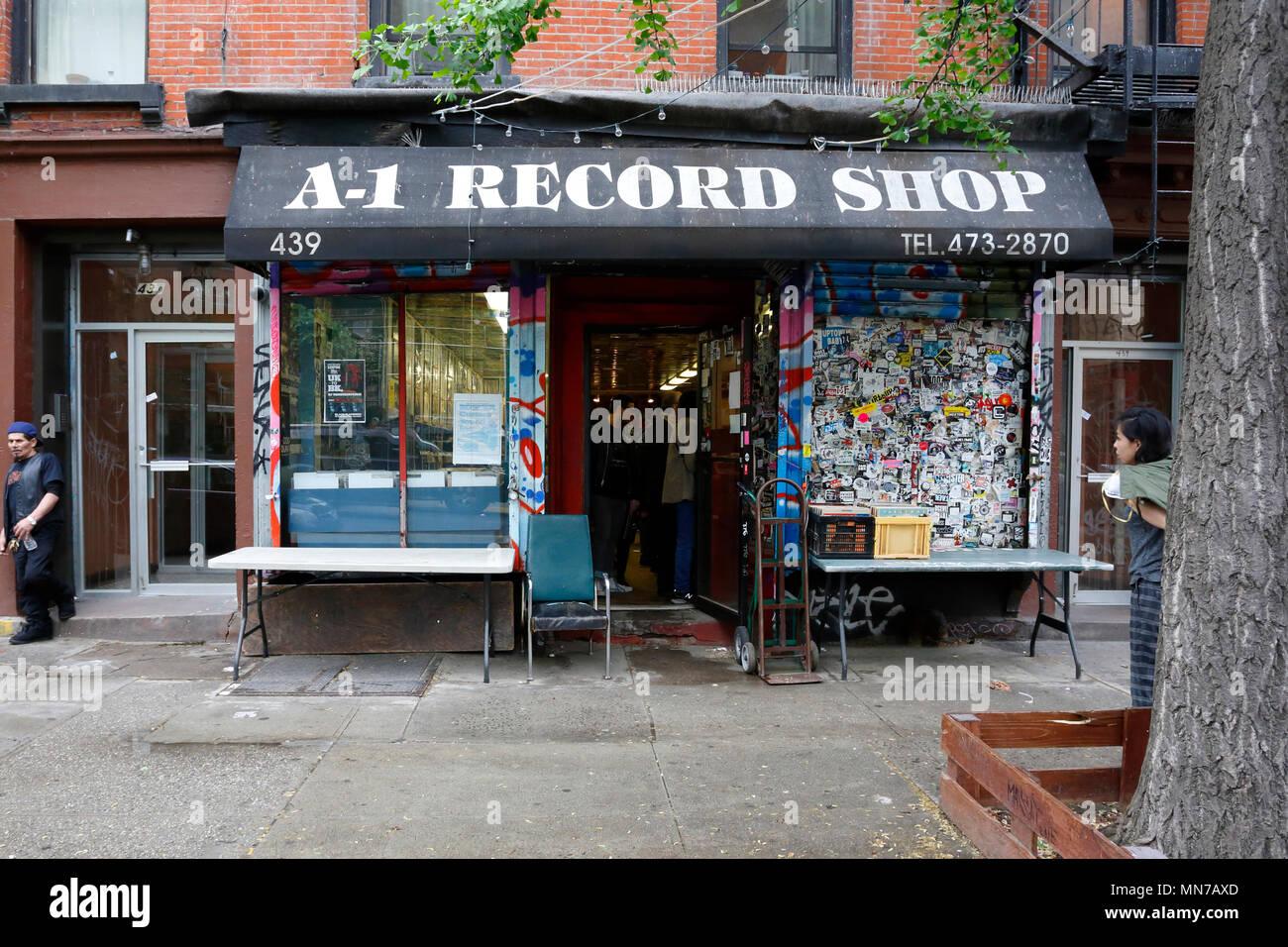 A1 Record Shop, 439 E 6th St, New York, NY - Stock Image