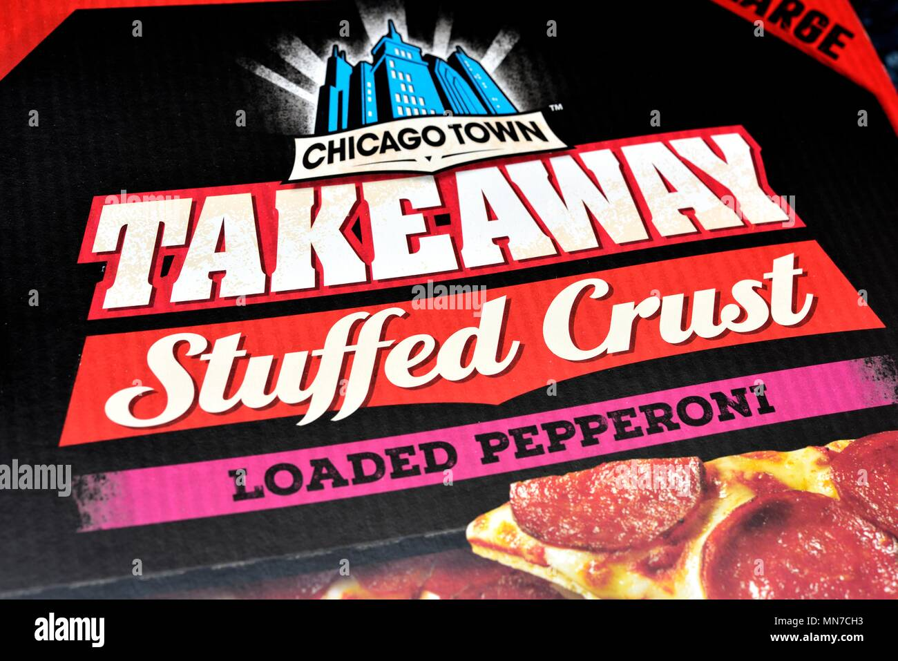 Pepperoni Stuffed Crust Pizza Stock Photos Pepperoni