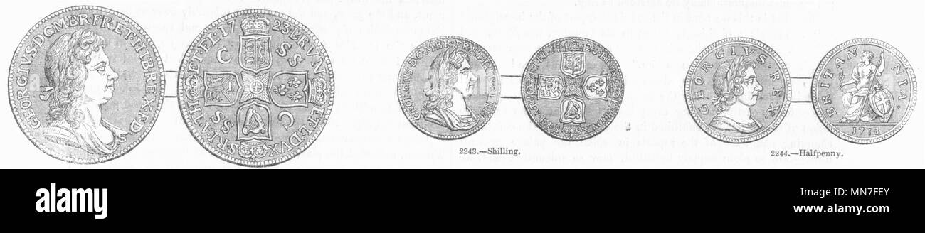 Halfpenny Coins Stock Photos & Halfpenny Coins Stock Images