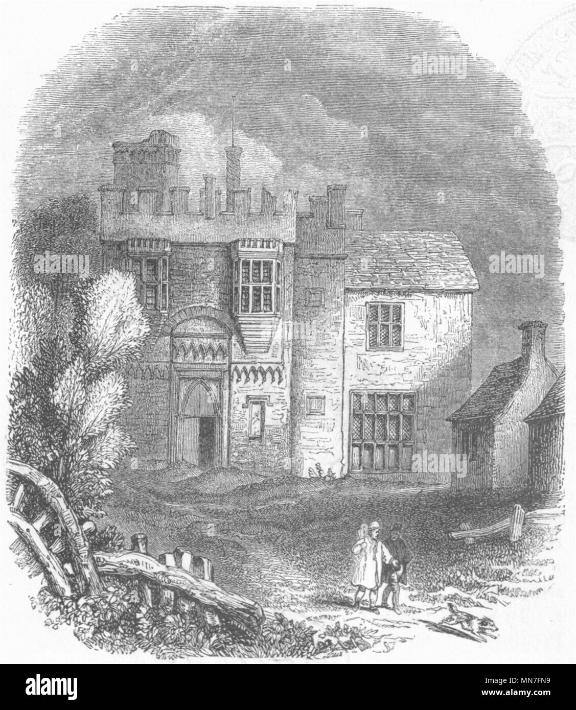 BUILDINGS. The Rye-House 1845 old antique vintage print picture - Stock Image