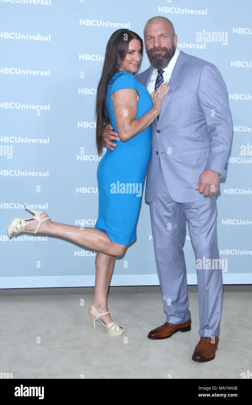 New York, NY, USA. 14th May, 2018. Stephanie McMahon and Triple H at the 2018 NBCUniversal Upfront at Rockefeller Center in New York City on May 14, 2018. Credit: Rw/Media Punch/Alamy Live News - Stock Image