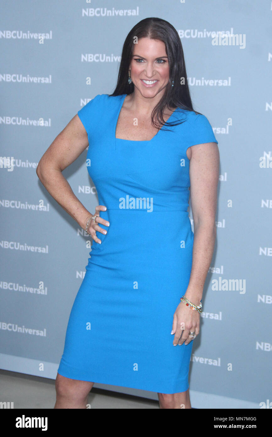 New York, NY, USA. 14th May, 2018. Stephanie McMahon at the 2018 NBCUniversal Upfront at Rockefeller Center in New York City on May 14, 2018. Credit: Rw/Media Punch/Alamy Live News - Stock Image